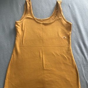 Size medium, yellow (mustard) tank top.